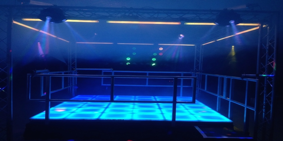 LED Dancefloor on a raised platform